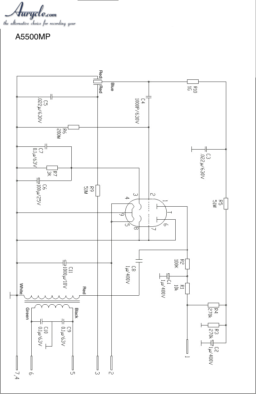 tube microphone schematics